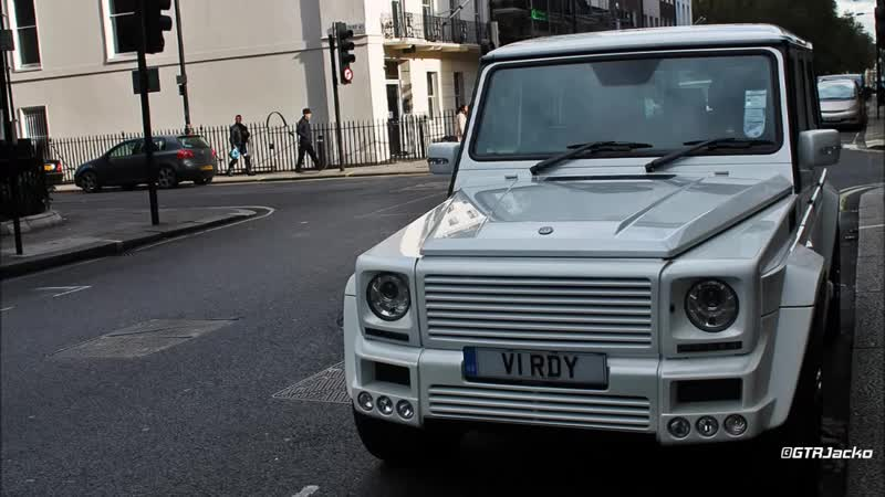 White Brabus G K8 (G55 AMG) - Parked in Mayfair