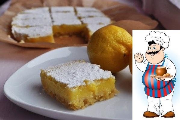 Lemon bars/ Лимонные пирожные. Этот рецепт специально для всех любителей кисленького и лимонов, а также если вам надоели обычные сладкие булочки и вам захотелось разнообразия) Нижний слой