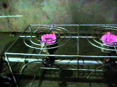 Rice husk Gas Stove Continues Type Double