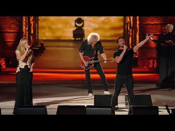 Brian May Kerry Ellis performing live at the Arena di Verona June 2015
