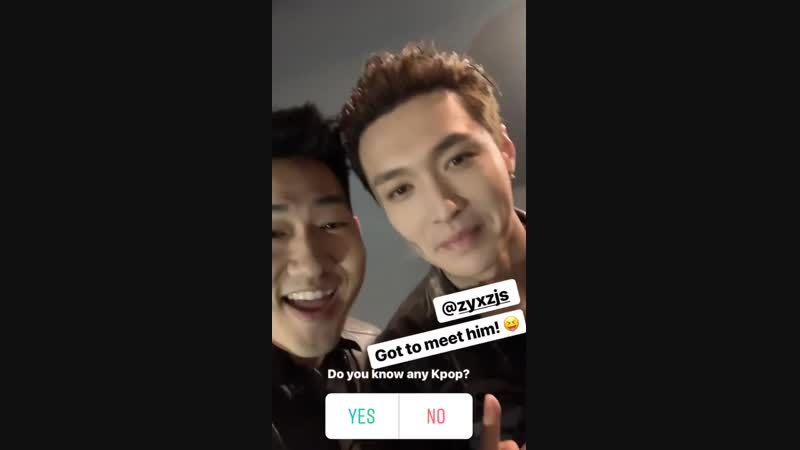 181107 EXO's Lay @ alexdwong Instagram Story Update