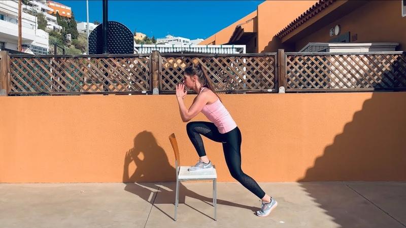 Зашагивания на стул одной ногой как накачать попу дома