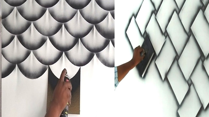 8 wall painting 3D design ideas and your stress removing