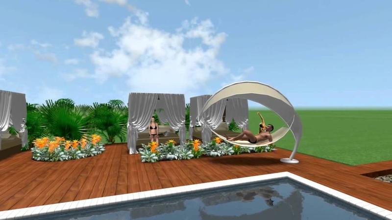 Ландшафтный дизайн 3D визуализация рекреационной зоны парка