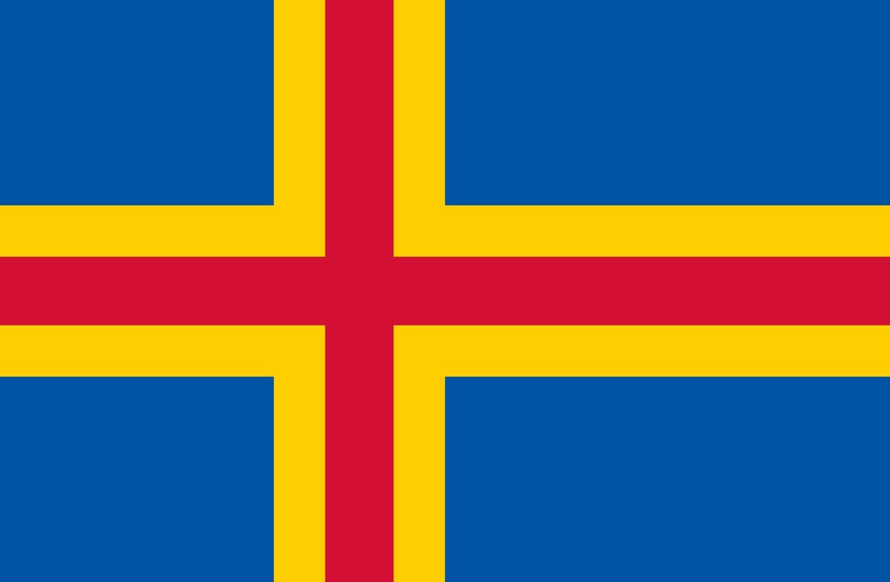 Флаг Аландские острова