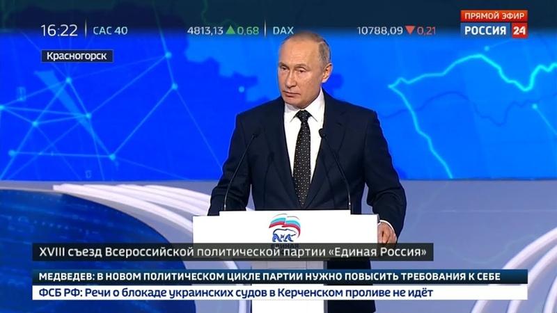 Выступление В. В. Путина на съезде партии Единая Россия