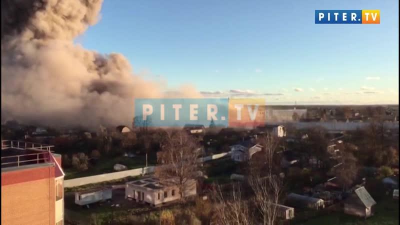 Взрыв в Гатчине видео от очевидца, разрушено целое здание