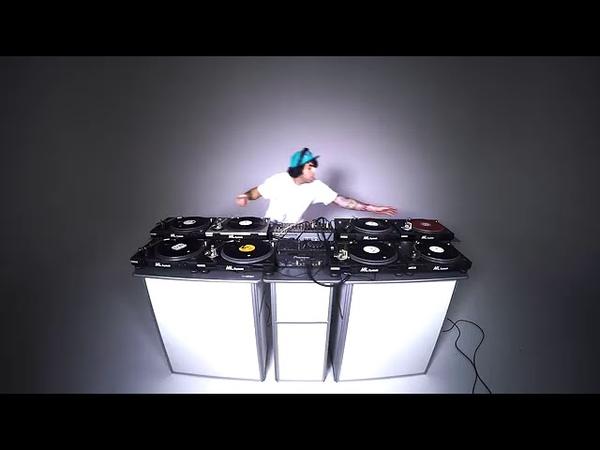 8 decks vinyl only dj mix Technics turntable live jam