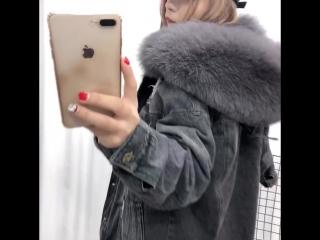 Куртка зима Мех лиса