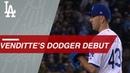 Ambidextrous Pat Venditte deals in Dodgers debut