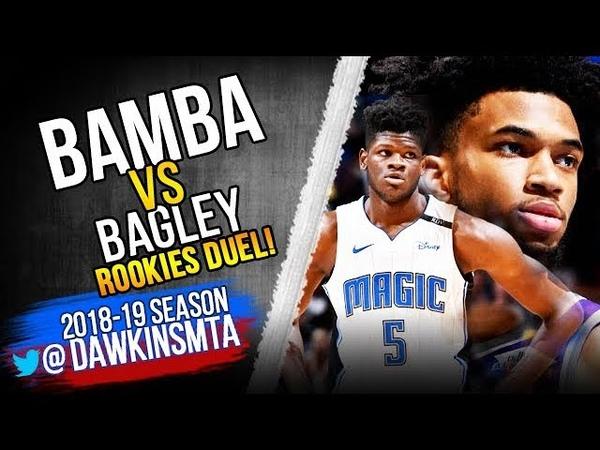 Mo Bamba vs Marvin Bagley III Rookies Duel 2018.10.30 - Mo With 5 Blks! | FreeDawkins