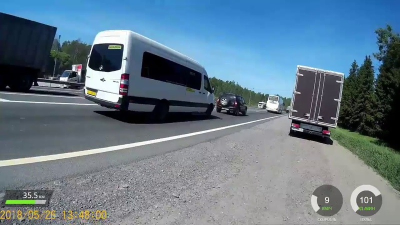 В.Новгород - Санкт-Петербург (до поворота на Колпино). Ускоренное видео велозаезда 26.05.2018