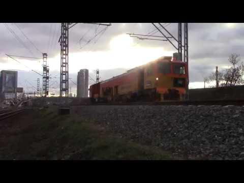 Путевая машина UNIMAT 08-475 4S Dynamic 001 перегон Фили-Москва-Пассажирская-Смоленская