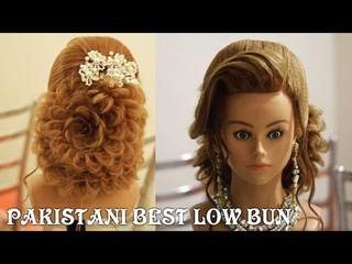 pakistani best low bun || low bun || bun hairstyle || step by step bun hairstyle || easy bun hairst