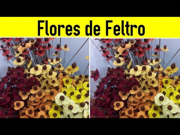 Flores de Feltro Muito rápido e Fácil artesanato