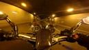 Suzuki Bandit 600 - tunnels at night vs leo vince exhaust