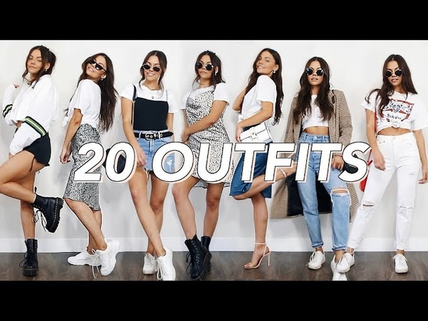 20 ways to style a WHITE T SHIRT spring outfit ideas
