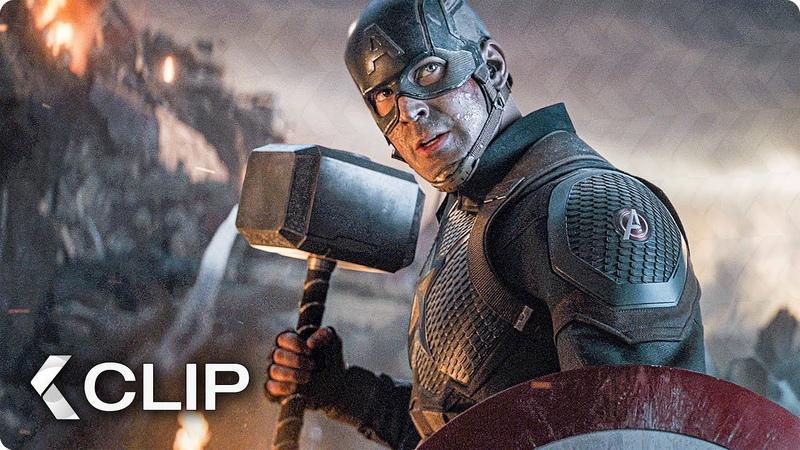 Captain America Lifts Thor's Hammer Mjolnir Scene AVENGERS 4 Endgame 2019
