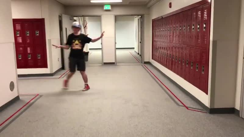 My 15 year old son is officially the last person to do the Twin Peaks hallway dance See you in my dreams TPHS twinpeaks twi