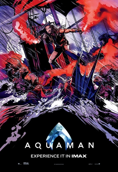 IMAX показала стильные постеры «Аквамена» с Джейсоном Момоа