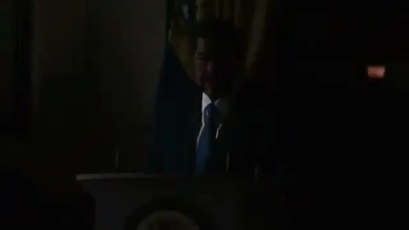 Під час промови проросійського диктатора Мадуро погасло світло