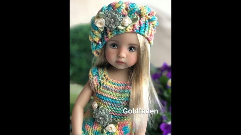 Goldfaden Мастер класс Платье для кукол вязание спицами и крючком
