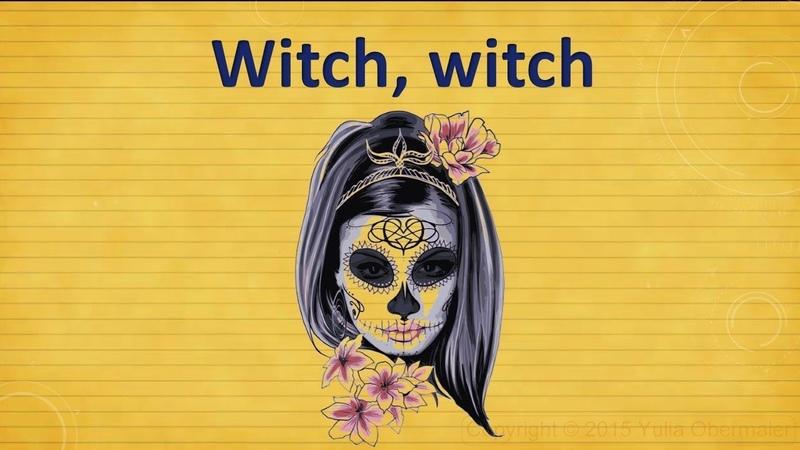 Witch witch Halloween poem Стихотворение