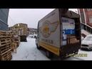 Грузоперевозки Портер загружен под завязку снегопад и каша на дороге