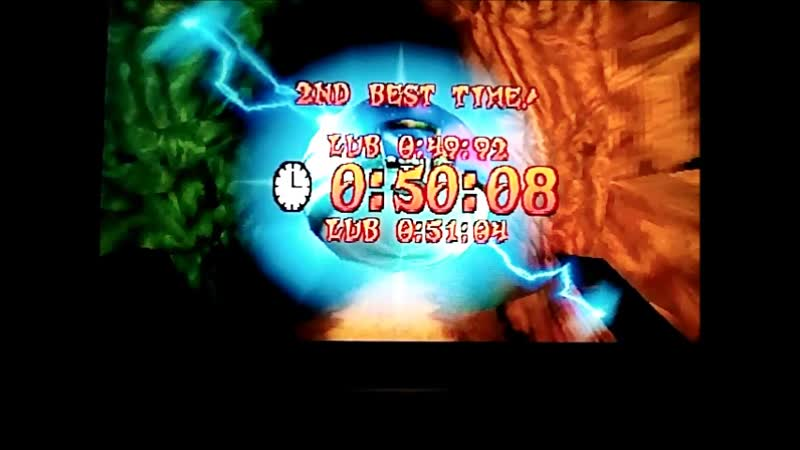 Crash Bandicoot 3: Warped (PAL). Time Trial.Dino Might!.50:08(49:92.РВ).