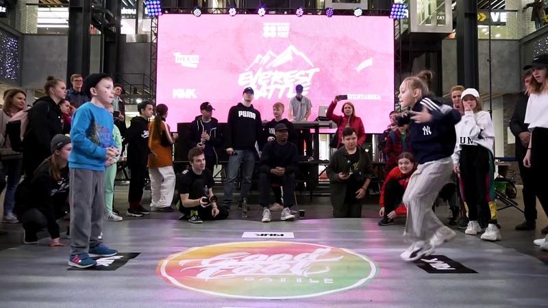 Everest battle 2.0.1.9   Hip-Hop kids   Semi-Final   Варюха vs Коробов Дима (win)