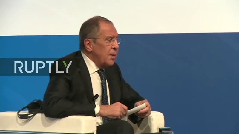 LIVE Lavrov takes part in dialogue on Russia at 2018 Rome MED