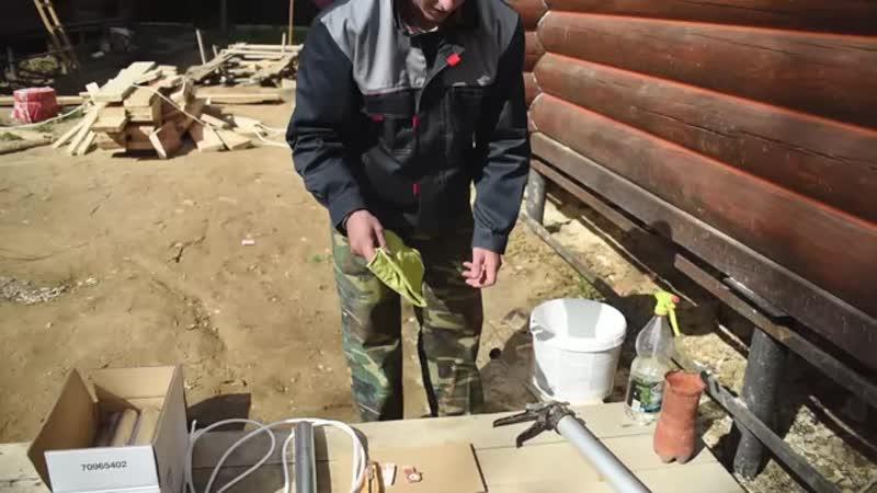 Утепление деревянного дома по технологии теплый шов делаем своими руками