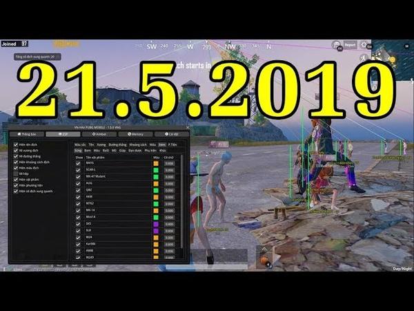 Hack PUBG Mobile PC 19h 21/5/2019 - Test Nhảy Xuyên Tường, Cắt Dù Nhanh, Xe Bay