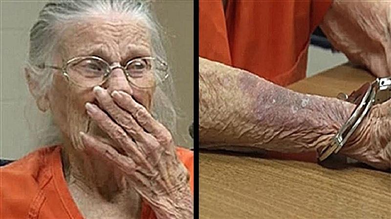 Eine 93 jährige Frau wurde zu Unrecht wegen fast nichts verhaftet
