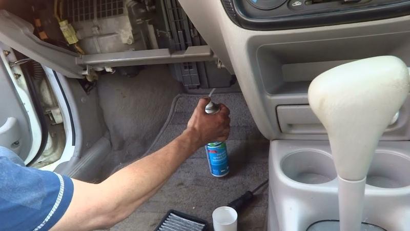 Чистка кондиционера очистителем LAVR Прощайте жители наших кондеев
