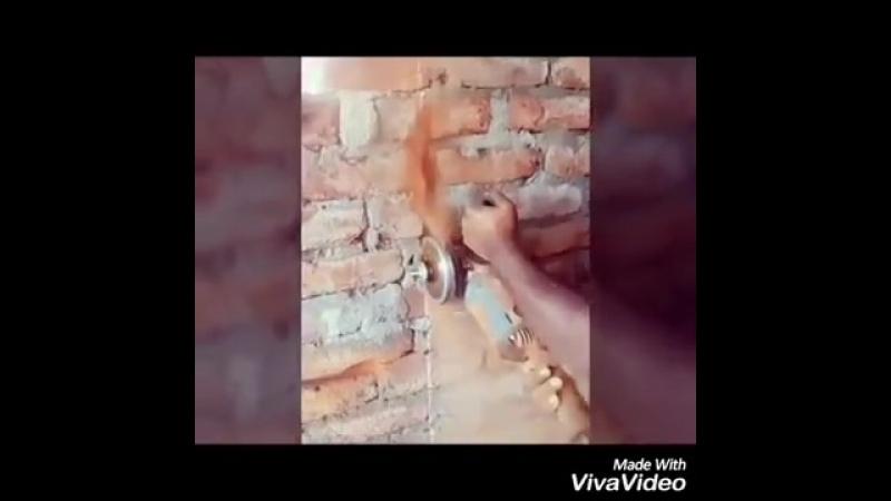 Насадка на болгарку для штробирования стен