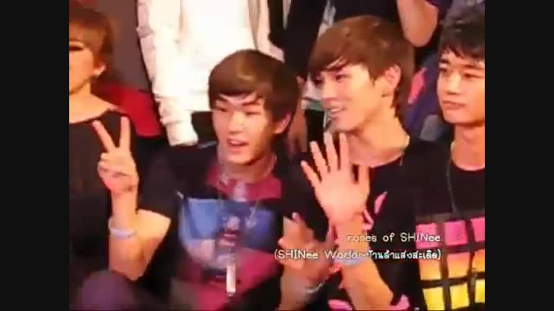 081121 SHINee Ending P1@[V] in Thailand - Onkey whispering moment