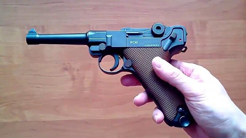Пневматический пистолет Gletcher P08 (обзор, отстрел по скорости и кучности, цена)