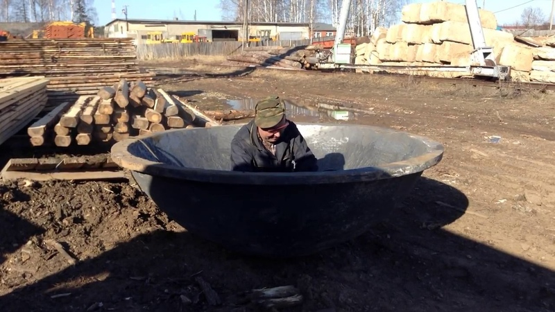Обработка молодильного чугунного банного чана для купания над костром
