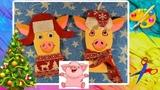 Свинья символ 2019 своими руками/ Новогодние игрушки/ A pig/ DIY