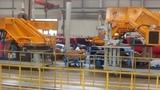 Завод SANY (Китай). Цех по сборке автокранов