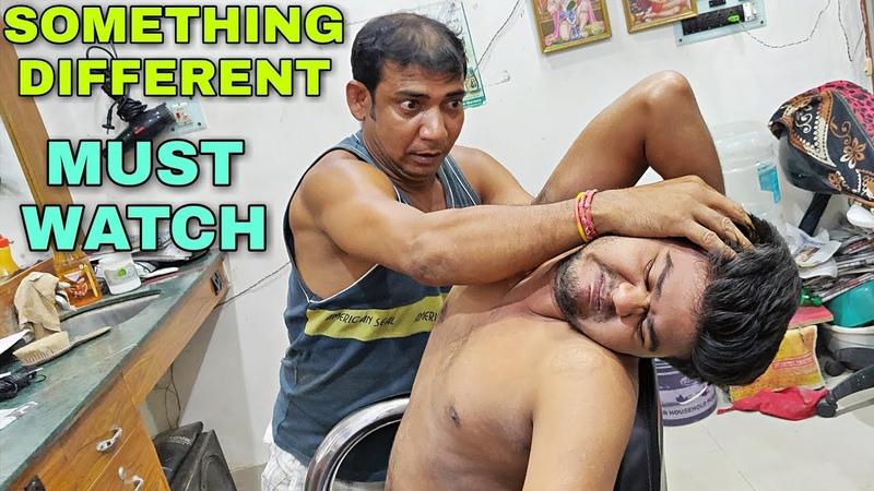 Amazing bone crasher Indian head and body massage | Neck cracking | Powerful ASMR
