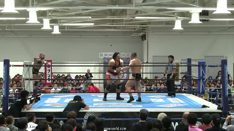 [My1] НЖПВ Ворлд Таг Лидж 2018 (День 14) - Jeff Cobb Michael Elgin vs. Minoru Suzuki Takashi Iizuka