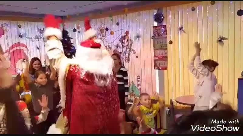 Новогодний праздник в кафе Баскин Роббинс