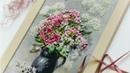 🌺 Шикарная картина в подарок Вышивка лентами видео мастер класс Embroidery Paintings