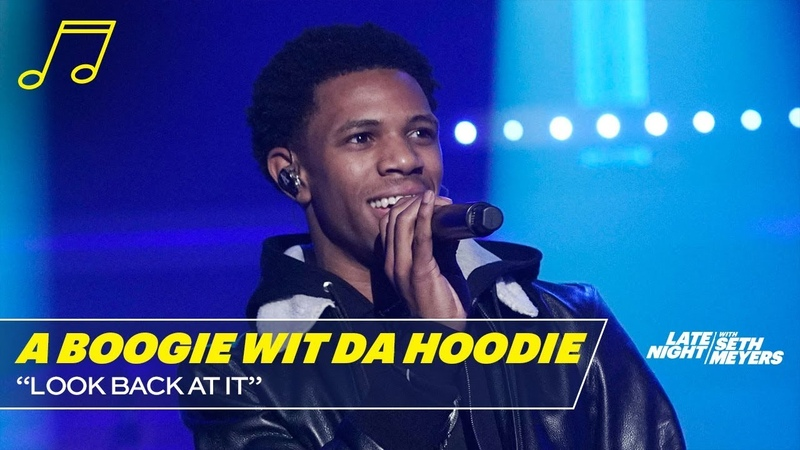 A Boogie Wit Da Hoodie - Look Back at It (Late Night with Seth Meyers)