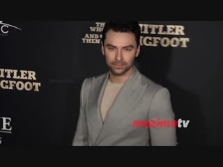 Aidan turner the man who killed hitler and then the bigfoot premiere red carpet