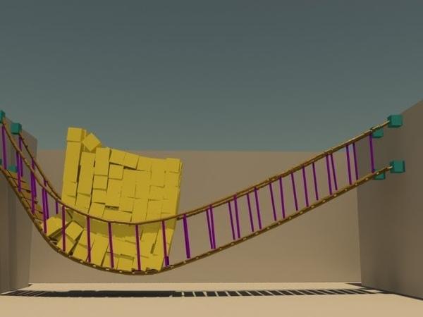 3dsmax tutorial:particle flow dynamic bridge using mparticle