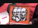 День в красных тонах коммунисты празднуют 101-ю годовщину Октябрьской революции. ФАН-ТВ