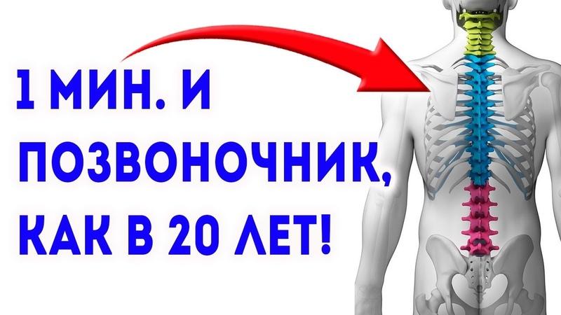 ЯПОНЦЫ РАСКРЫЛИ! Восстановление позвоночника и избавление от болей в спине и в пояснице за 1 минуту